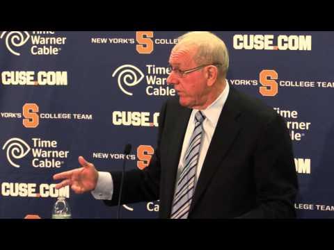 Jim Boeheim discusses Fab Melo's eligibility