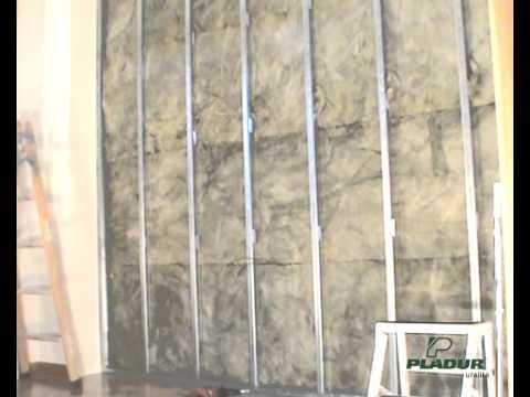 Aisla con pladur youtube - Como hacer una pared de pladur ...