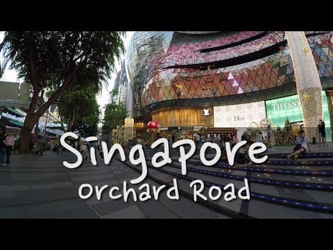 Singapore - Walking Orchard Road & 2017 Christmas lights  Ep:07