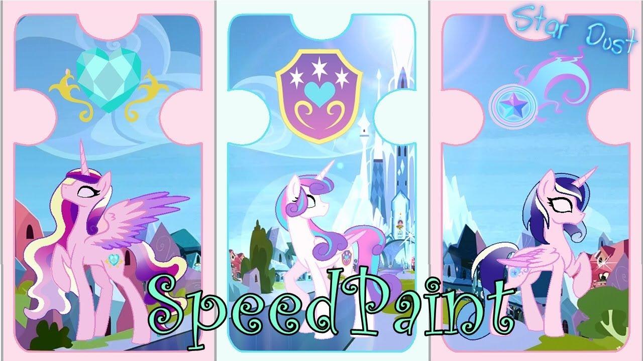 Mlp Speedpaint Cystal Empire Royal Family Youtube