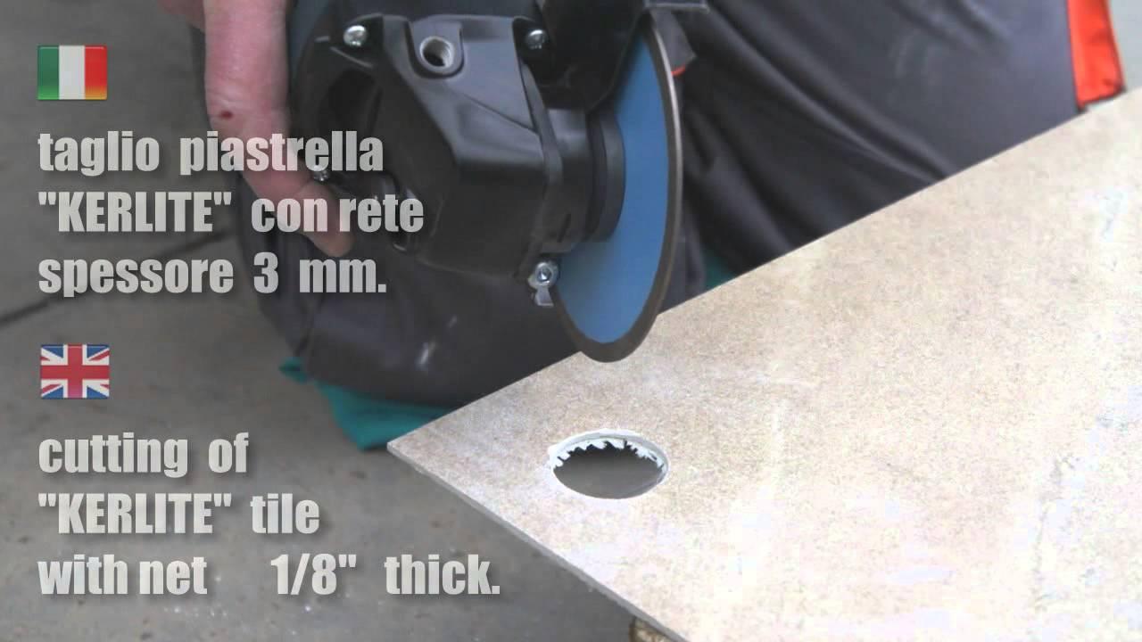 Frese e dischi diamantati per uso a secco con smerigliatrice