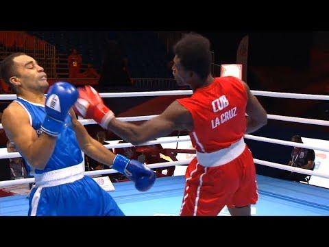Round Of 16 (81kg)  LA CRUZ Julio (CUB) Vs NTAMBWE Gaetan (FRA) /AIBA World 2019