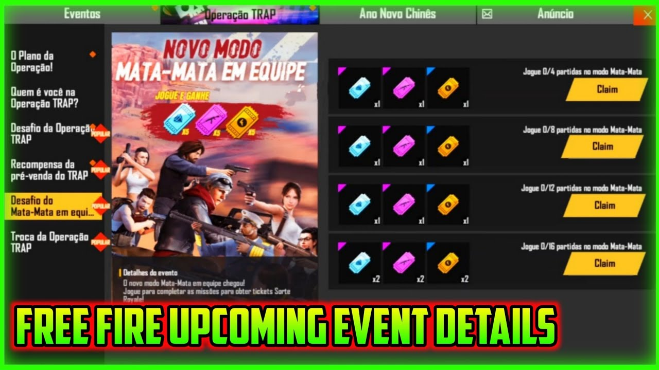 Free Fire Upcoming Event Details Free Fire New Event Full Details Mg More Youtube