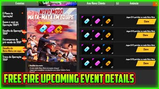 FREE FIRE UPCOMING EVENT DETAILS || FREE FIRE NEW EVENT FULL DETAILS || MG MORE