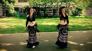 Best Salsa Mashup Belly Dance Buskers Amazing Street Performance