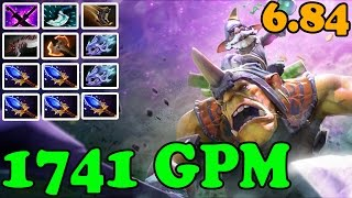 Dota 2 - Patch 6.84 - Alchemist 1741 GPM EPIC Strategy - Aghanim's Scepter for all Team!
