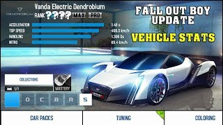 Asphalt 8 - FALL OUT BOY UPDATE (VEHICLE STATS)