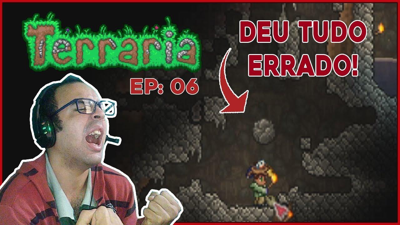 DEU TUDO ERRADO NESSA EXPLORAÇÃO!  | Terraria 1.4 #06