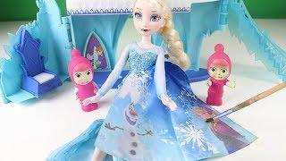 Maşalar ve Küçük Cadı Elsa'nın Sarayına Gidiyorlar Elsa Maşalara Nasıl Sürpriz Hazırlıyor Çizgi Film