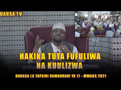 Download Hakika Tutafufuliwa Na kuulizwa / Darsa La Tafsiri / Sheikh Walid Alhad