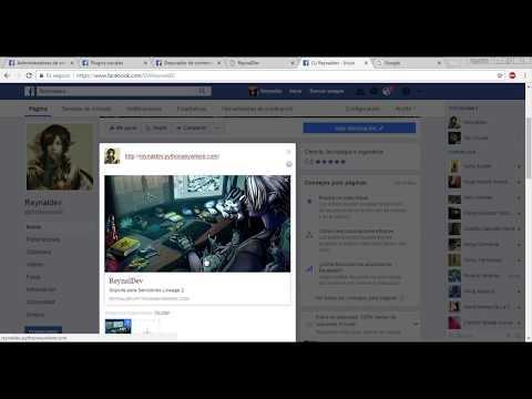 Configurar sitio web para mostrarse Facebook al ser compartido