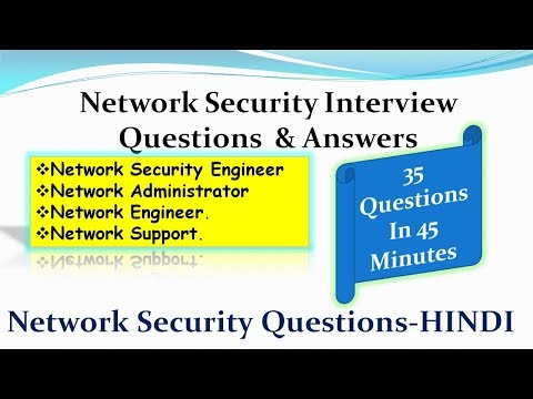 Network Security Interview Questions For Network & Server Security Engineer - HINDI