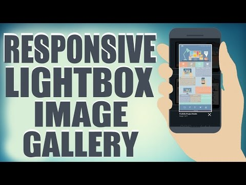 Responsive Lightbox Image Gallery - HTML5/CSS3 Web Development Tutorial