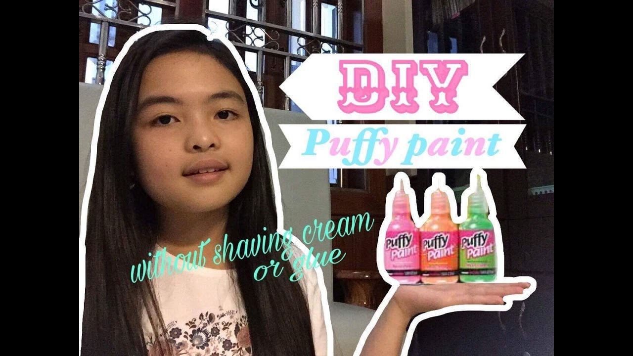 Diy Puffy Paint Without Shaving Cream Or Glue Liza Cheng You