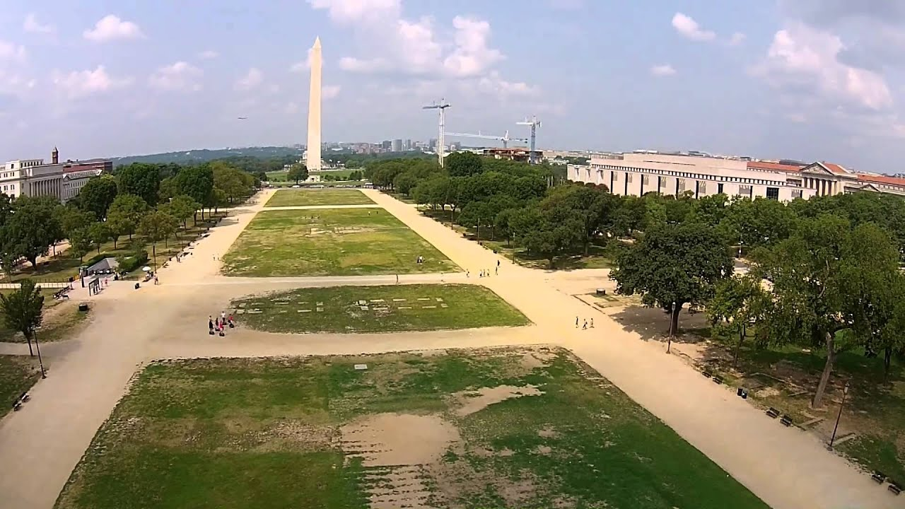 Dji Phantom Washington Monument And Capitol Hill From The