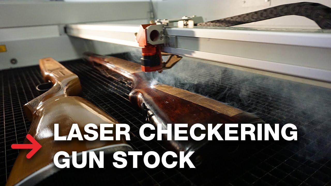 Laser Checkering Gun Stock | Laser engraving rifles