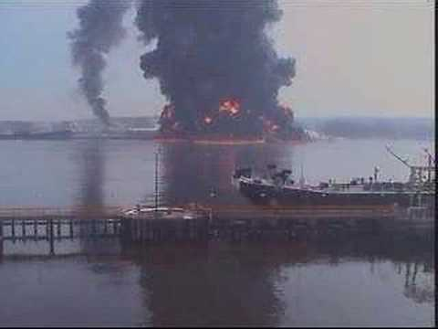 gas barge explosion