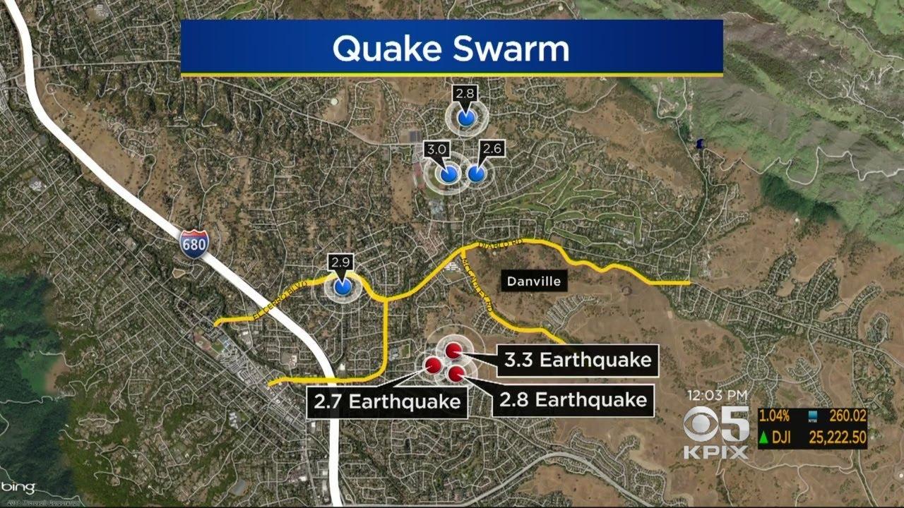 Earthquake swarm rattles the Danville area