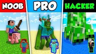 Minecraft NOOB vs PRO vs HACKER : WAR BATTLE CHALLENGE in Minecraft Animation!