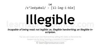 Illegible Pronunciation And Definition Youtube