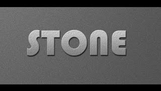 Create Stone Text Effect In Photoshop