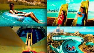 Лучший Аквапарк Атлантис в Дубае | Обзор Aquaventure water park Atlantis Palm Dubai Water Slides POV