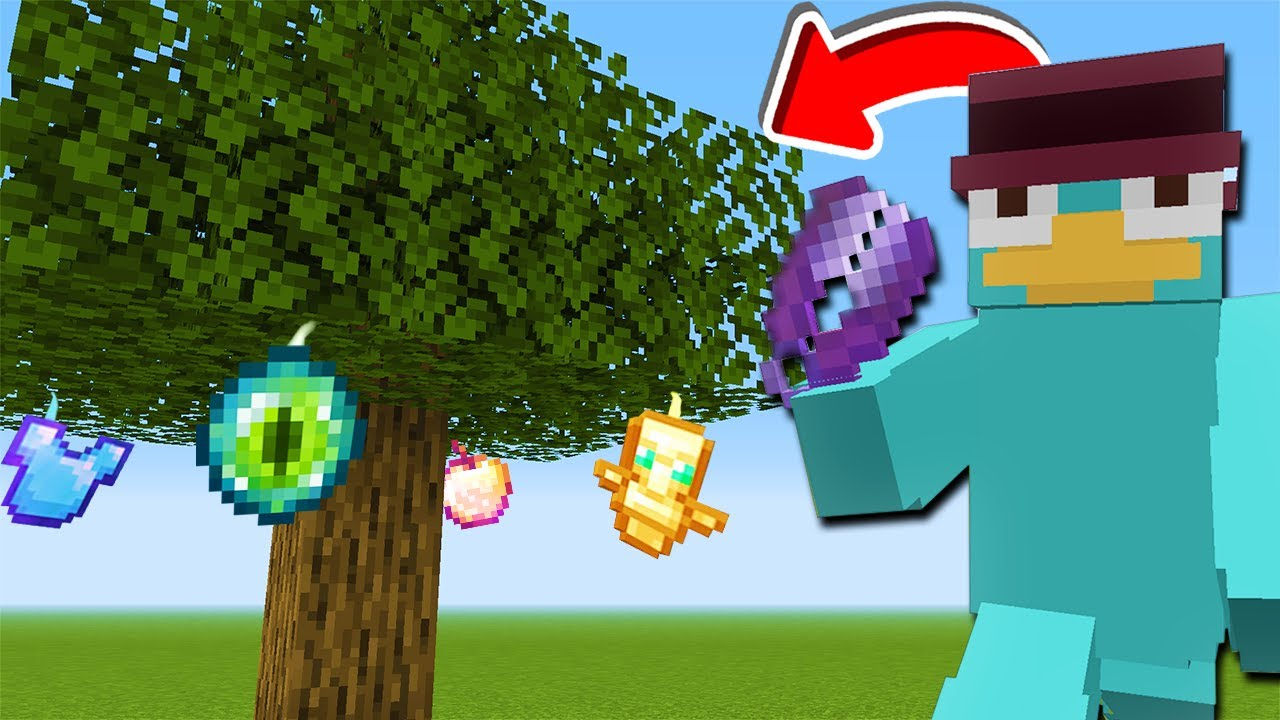 Download Minecraft, But Leaves Grow OP Items...