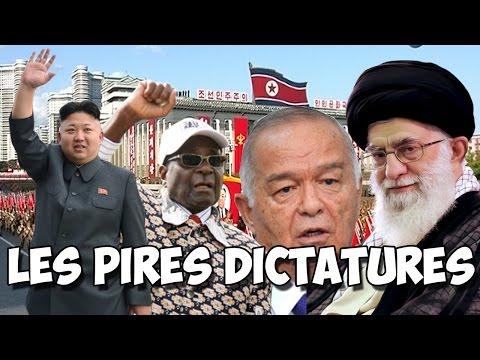 Les PIRES DICTATURES de la PLANÈTE !