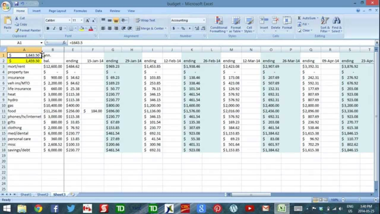 Using excel to budget part 3 daily cash flow management youtube using excel to budget part 3 daily cash flow management maxwellsz