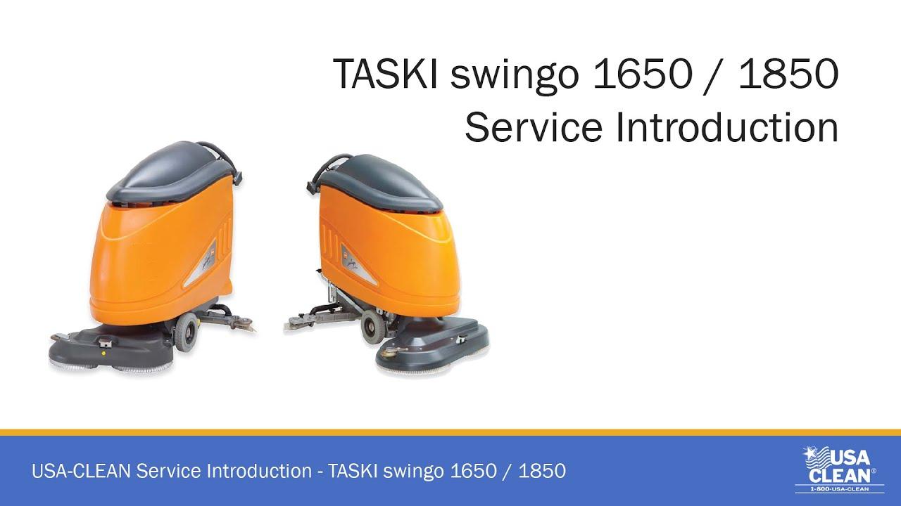 Taski Swingo 1650 Amp 1850 Service Introduction Video Youtube