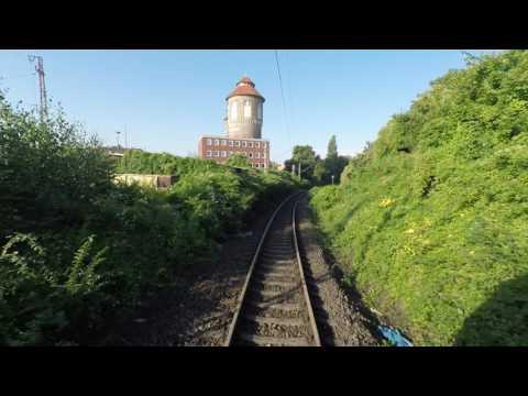 Führerstandmitfahrt, Cabinerit: Osnabrück - Oldenzaal. UHD 4K