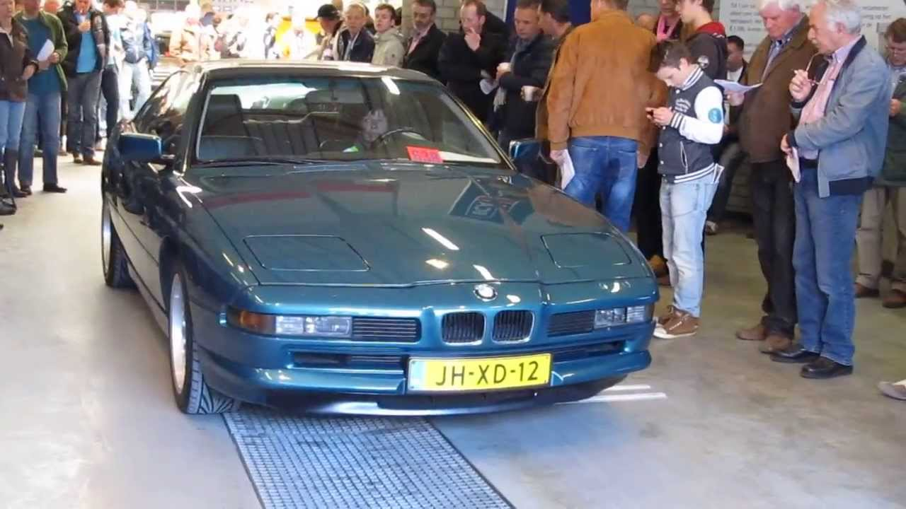 Auctioning of a 1991 bmw 850 coupe classic car auction in the netherlands