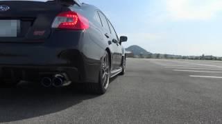 hks super turbo muffler twin tail for wrx sti vab ej20