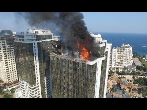 Gagarin plaza горит
