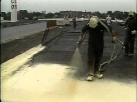 Spray Polyurethane Foam Roofing System Youtube
