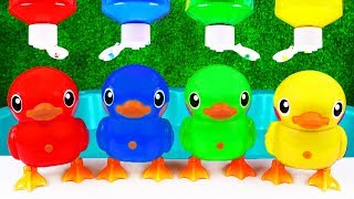 Learn Colors with Ducks, Animals and Toys for Kids