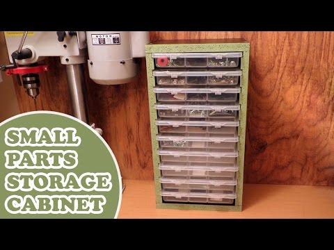 Workshop Organization - Homemade Small Parts Storage
