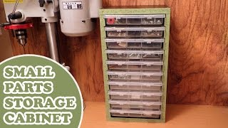 Workshop Organization - Homemade Small Parts Storage