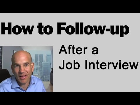 How to Follow up After a Job Interview - Training Module 7 - YouTube - how to follow up on a job interview