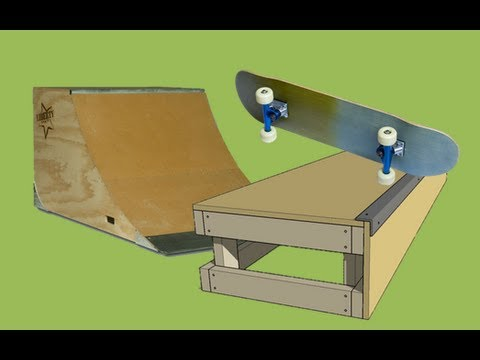 Skateboarding With a Ramp & Box.
