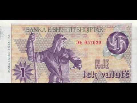 Currencies of the World: Republic of Albania; Albanian Lek Valutë (1st series of 1992)