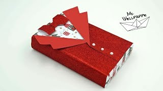 Geschenke verpacken - einfache Anleitung / Sakko für Männer