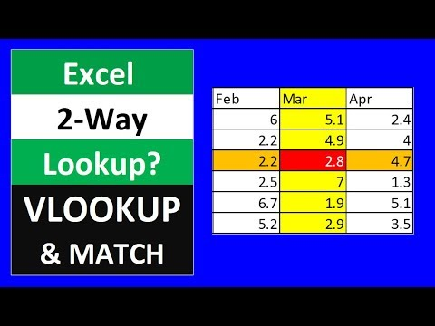Excel Two Way Lookup with VLOOKUP & MATCH Functions - Excel Magic Trick 1567