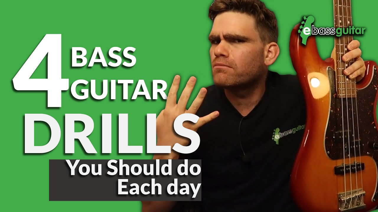 4 Bass Guitar Drills You Should Do Each Day