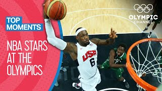 NBA Stars at the Olympics! | Top Moments