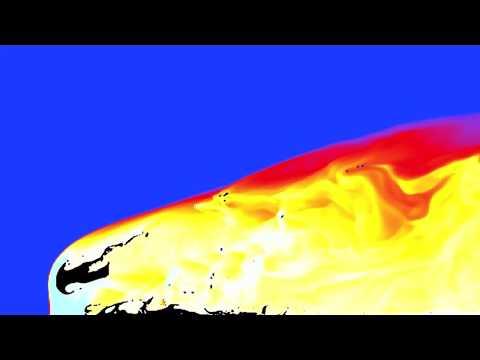 Supercomputer Simulation of Chelyabinsk-like Asteroid Entering Earth's Atmosphere