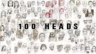 Скачать Drawing 100 Heads In 10 Days 100 Heads Challenge Meds100Heads