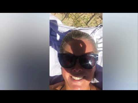 Samantha Armytage Str Ips Down To Her Swimsuit During Poo