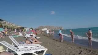 Судак. Пляж на Набережной (июнь 2016)(Веб-камера общественного пляжа в Судаке http://live.uastreaming.net/embed/9 ---------------------------------- В пятницу 17 июня ездил в..., 2016-06-19T11:01:59.000Z)