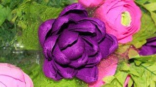Букет из конфет. Часть 1 из 3: Артишоки и крокусы(Видеоурок по моделированию цветов артишоков из гофрированной бумаги. Внутри каждого цветка — конфета...., 2015-01-30T06:59:18.000Z)